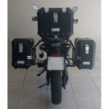 Conjunto Baú Lateral + Top Case + Suportes - BMW F700GS