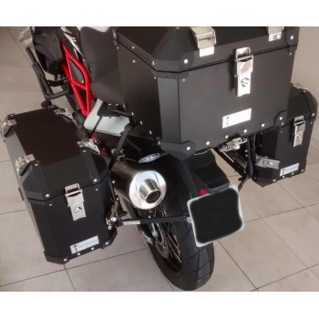 Conjunto Baú Lateral + Top Case + Suportes - BMW F800GS
