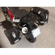 Conjunto Baú Lateral + Suporte Lateral - BMW F700GS